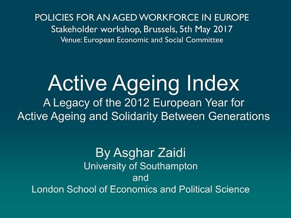 OSE workshop on policies for an aged workforce