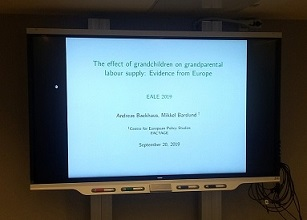 FACTAGE results presented at the European Association of Labour Economists